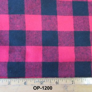 "1 1/4"" Buffalo Check Flannel"